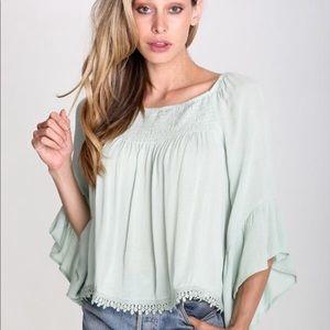 Raga Anne blouse bell sleeves size medium